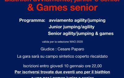 Biathlon avviamento junior e senior & Games senior