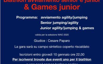 Biathlon avviamento senior e junior & Games Junior